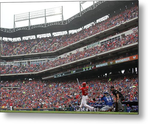 Game Two Metal Print featuring the photograph Nomar Mazara by Ronald Martinez