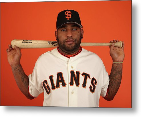 Media Day Metal Print featuring the photograph Pablo Sandoval by Christian Petersen