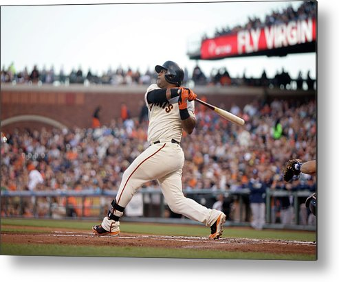 San Francisco Metal Print featuring the photograph Pablo Sandoval by Ezra Shaw