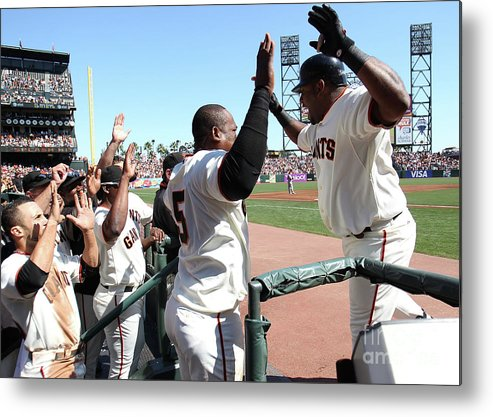 People Metal Print featuring the photograph Pablo Sandoval by Jed Jacobsohn