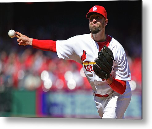St. Louis Cardinals Metal Print featuring the photograph Pat Neshek by Jeff Curry