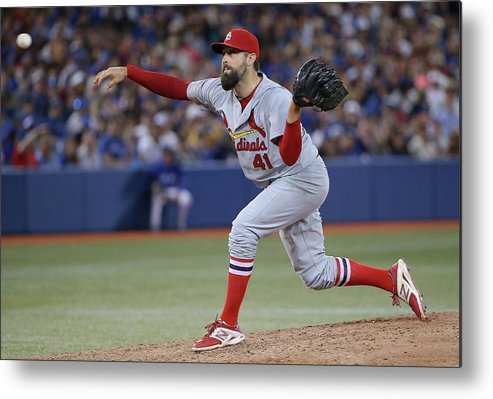 St. Louis Cardinals Metal Print featuring the photograph Pat Neshek by Tom Szczerbowski