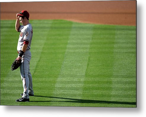 American League Baseball Metal Print featuring the photograph Paul Goldschmidt by Harry How