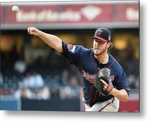 American League Baseball Metal Print featuring the photograph Phil Hughes by Denis Poroy
