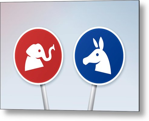 Horse Metal Print featuring the drawing Political Debate Signs by Filo