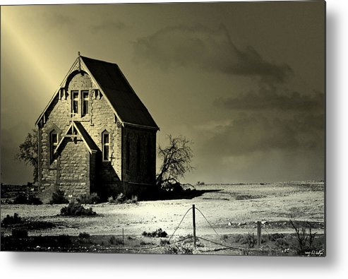 Church Metal Print featuring the photograph Praying for Rain by Holly Kempe