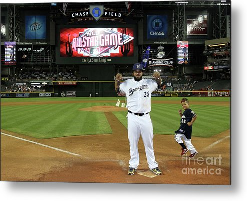 American League Baseball Metal Print featuring the photograph Prince Fielder by Jeff Gross