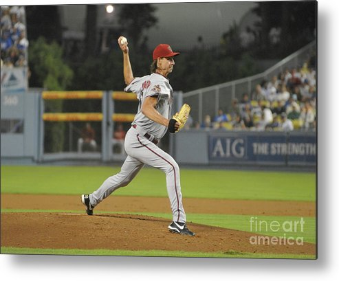 People Metal Print featuring the photograph Randy Johnson by Icon Sports Wire
