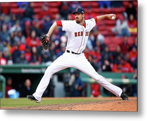 American League Baseball Metal Print featuring the photograph Red Miller by Jared Wickerham