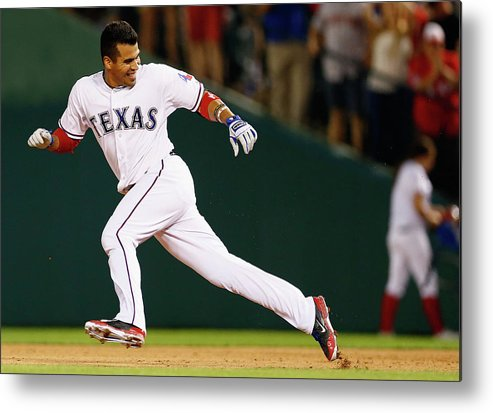 American League Baseball Metal Print featuring the photograph Robinson Chirinos by Tom Pennington