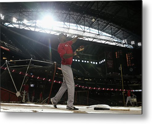 National League Baseball Metal Print featuring the photograph Roger Bernadina by Christian Petersen