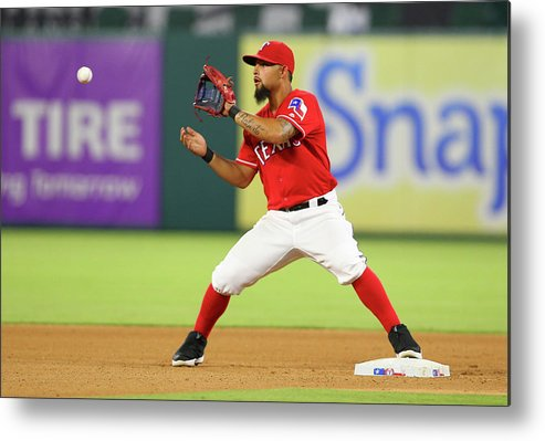 Double Play Metal Print featuring the photograph Rougned Odor by R. Yeatts