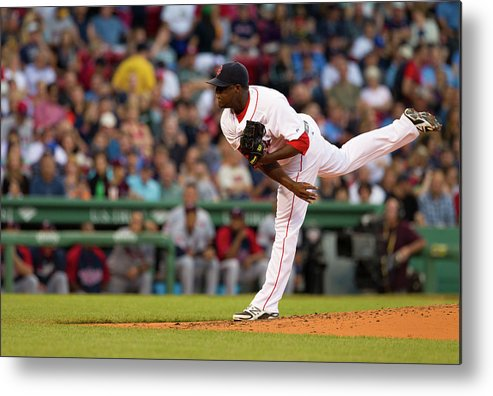Second Inning Metal Print featuring the photograph Rubby De La Rosa by Rich Gagnon
