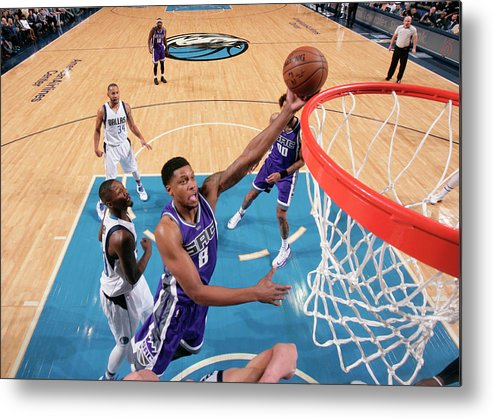 Nba Pro Basketball Metal Print featuring the photograph Rudy Gay by Glenn James