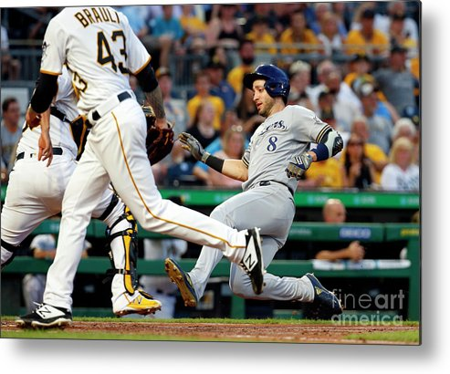 People Metal Print featuring the photograph Ryan Braun by Justin K. Aller