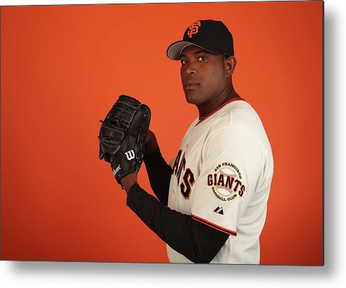 Media Day Metal Print featuring the photograph Santiago Casilla by Christian Petersen