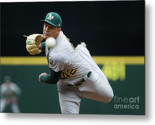Second Inning Metal Print featuring the photograph Sean Manaea by Lindsey Wasson
