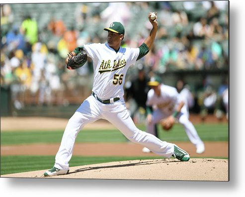 American League Baseball Metal Print featuring the photograph Sean Manaea by Thearon W. Henderson
