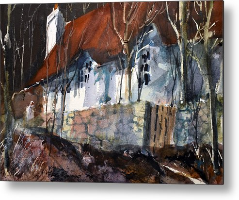 Sherwood Forest Metal Print featuring the painting Sherwood Forest Cottage by Charles Rowland