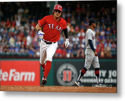 Second Inning Metal Print featuring the photograph Shin-soo Choo by Ron Jenkins