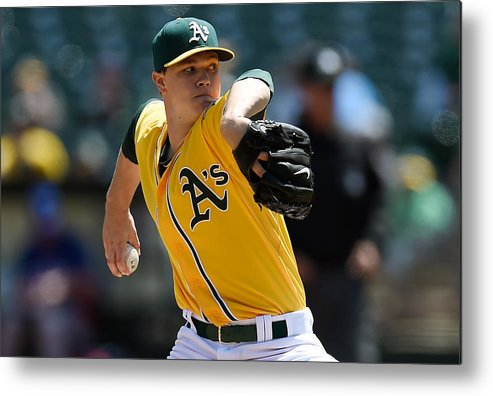 American League Baseball Metal Print featuring the photograph Sonny Gray by Thearon W. Henderson