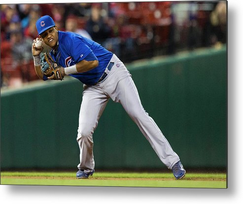 2nd Base Metal Print featuring the photograph Starlin Castro by David Welker