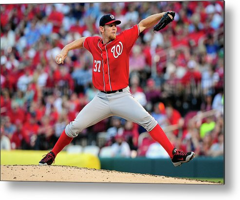 Stephen Strasburg Metal Print featuring the photograph Stephen Strasburg by Jeff Curry
