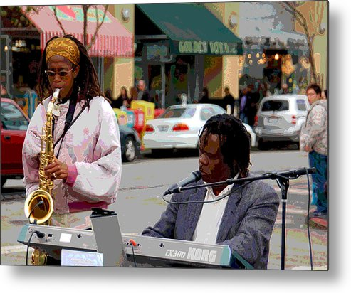 Jazz Metal Print featuring the photograph The Color Of Music by Suzanne Gaff