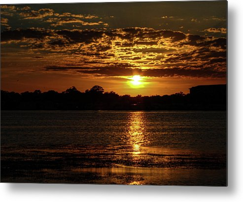 Sunset Metal Print featuring the photograph The Sunset over the Lake by Daniel Cornell