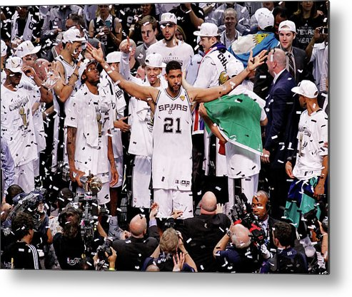Playoffs Metal Print featuring the photograph Tim Duncan by Chris Covatta