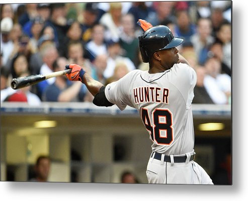 American League Baseball Metal Print featuring the photograph Torii Hunter by Denis Poroy