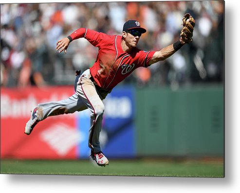 San Francisco Metal Print featuring the photograph Trea Turner and Conor Gillaspie by Thearon W. Henderson