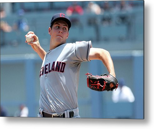 American League Baseball Metal Print featuring the photograph Trevor Bauer by Stephen Dunn