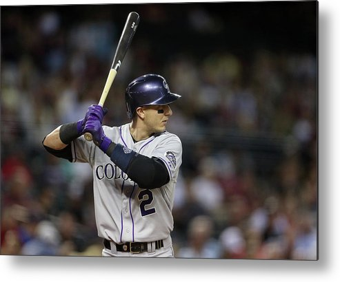 National League Baseball Metal Print featuring the photograph Troy Tulowitzki by Christian Petersen