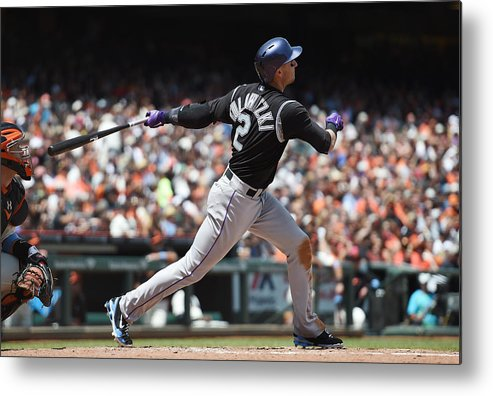 San Francisco Metal Print featuring the photograph Troy Tulowitzki by Thearon W. Henderson