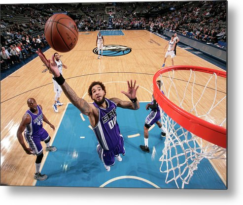 Nba Pro Basketball Metal Print featuring the photograph Willie Cauley-stein by Glenn James