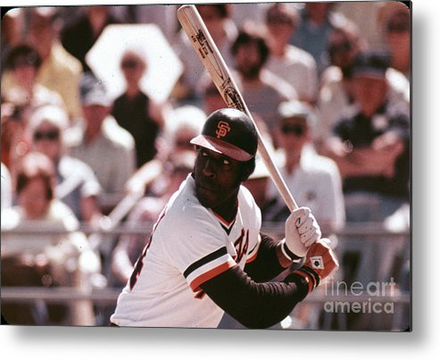 Candlestick Park Metal Print featuring the photograph Willie Mccovey by Mlb Photos