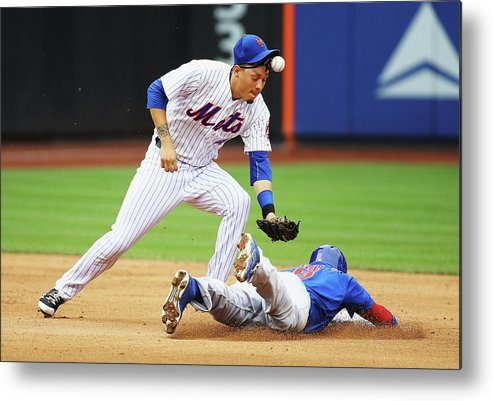 People Metal Print featuring the photograph Wilmer Flores and Chris Coghlan by Al Bello