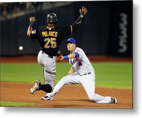 Double Play Metal Print featuring the photograph Wilmer Flores and Gregory Polanco by Jim Mcisaac