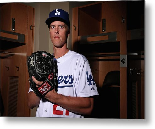 Media Day Metal Print featuring the photograph Zack Greinke by Christian Petersen