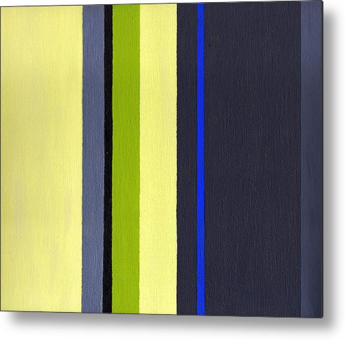 Geometric Metal Print featuring the painting Parallels 1 by Slade Roberts