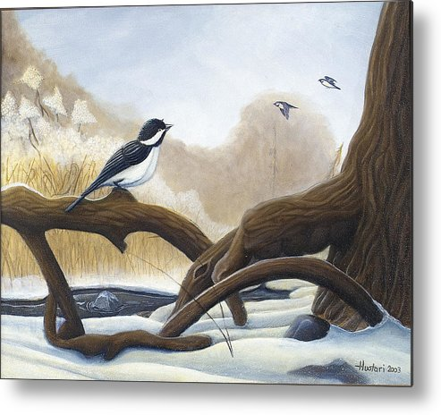 Rick Huotari Metal Print featuring the painting Where are you going by Rick Huotari