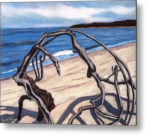Metal Print featuring the painting Arch by Ingrid Torjesen