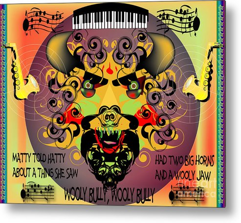 Abstract Metal Print featuring the digital art Bully by George Pasini