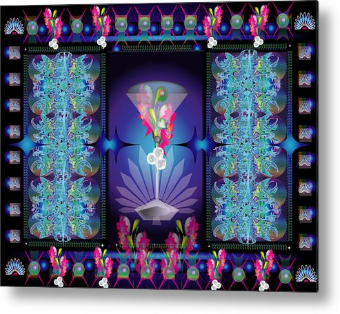 Abstract Metal Print featuring the digital art Martini Jewelcase by George Pasini
