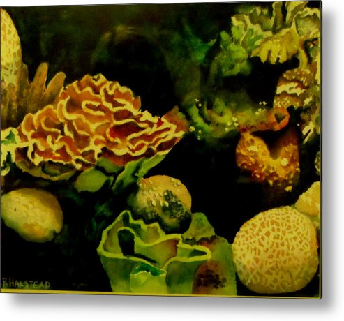 Sea Metal Print featuring the painting Under the Sea by Patricia Halstead