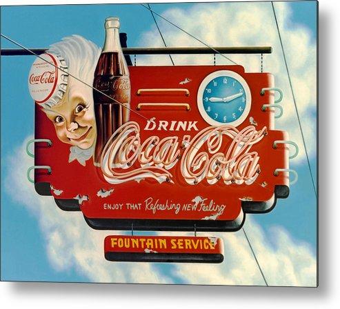 Coca Cola Metal Print featuring the painting Coca Cola by Van Cordle