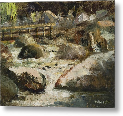 Plein Air Painting Metal Print featuring the painting Rocky Mountain National Park by Nancy Albrecht