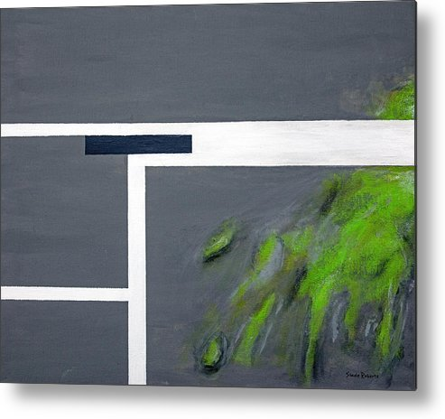Abstract Metal Print featuring the painting Toxic by Slade Roberts