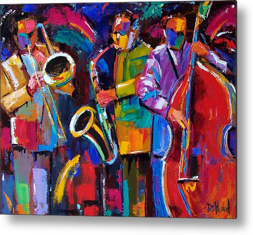 Jazz Metal Print featuring the painting Vibrant Jazz by Debra Hurd